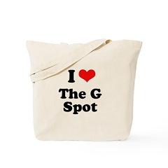I love the g spot Tote Bag