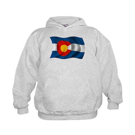 Wavy Colorado Flag Kids Hoodie