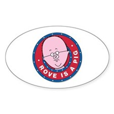 Piggish Oval Decal