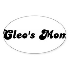 Cleos mom Oval Decal