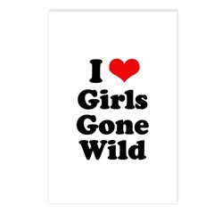 I love girls gone wild Postcards (Package of 8)