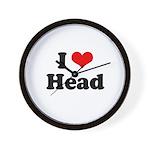 I love head Wall Clock