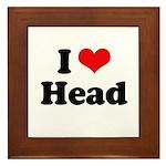 I love head Framed Tile