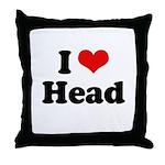 I love head Throw Pillow