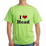 I love head Green T-Shirt