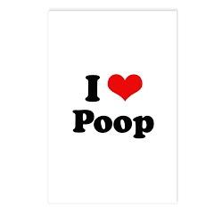 I love poop Postcards (Package of 8)