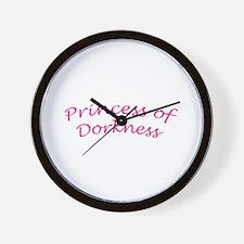 Princess of Dorkness Wall Clock