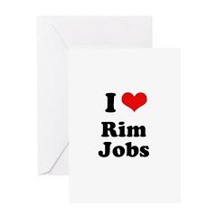 I love rim jobs Greeting Card