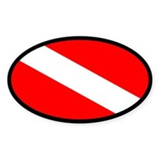 Diver Down nautical Oval Decal
