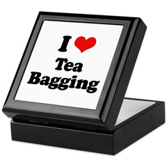 I love tea bagging Keepsake Box