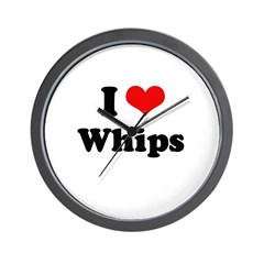 I love whips Wall Clock