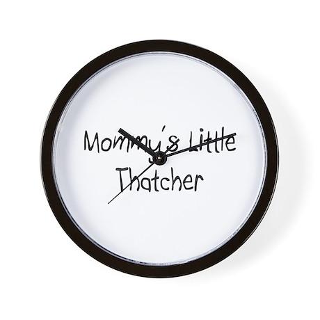 Mommy's Little Thatcher Wall Clock