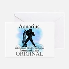 Aquarius Water Bearer Greeting Card
