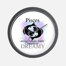 Pisces the Fish Wall Clock