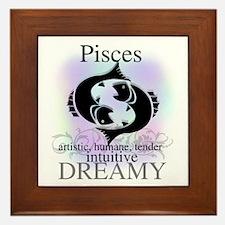 Pisces the Fish Framed Tile
