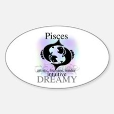 Pisces the Fish Oval Decal