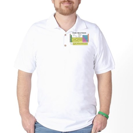 Periodic Table of Elements Golf Shirt