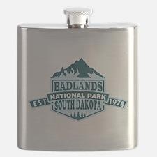 Badlands - South Dakota Flask