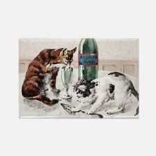Absinthe Cats Rectangle Magnet
