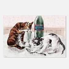 Absinthe Cats Postcards (Package of 8)