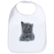 Grey Kitten Bib