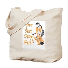 Hockey Goalie - Orange Tote Bag