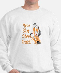 Hockey Goalie - Orange Sweatshirt