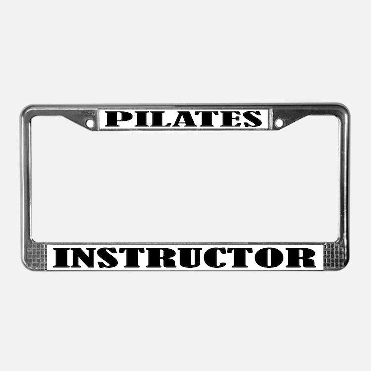 Pilates License Plate Frame