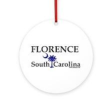 Florence South Carolina Ornament (Round)