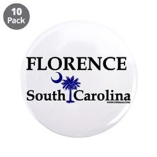 "Florence South Carolina 3.5"" Button (10 pack)"