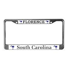 Florence South Carolina License Plate Frame