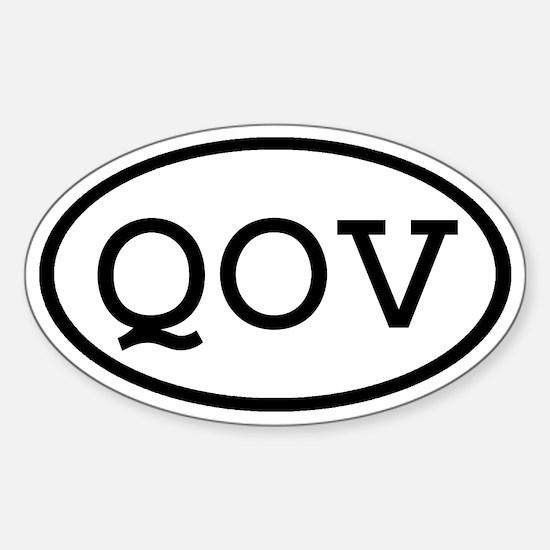 QOV Oval Oval Decal