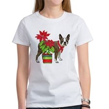 Boston terrier Christmas2 Tee
