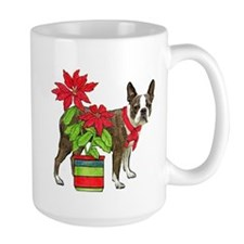 Boston terrier Christmas2 Ceramic Mugs