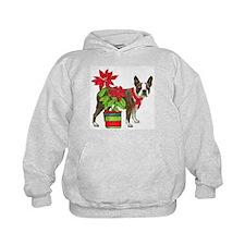 Boston terrier Christmas2 Hoodie
