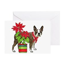 Boston terrier Christmas2 Greeting Card
