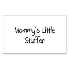 Mommy's Little Stuffer Rectangle Decal