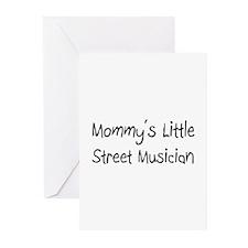 Mommy's Little Street Musician Greeting Cards (Pk