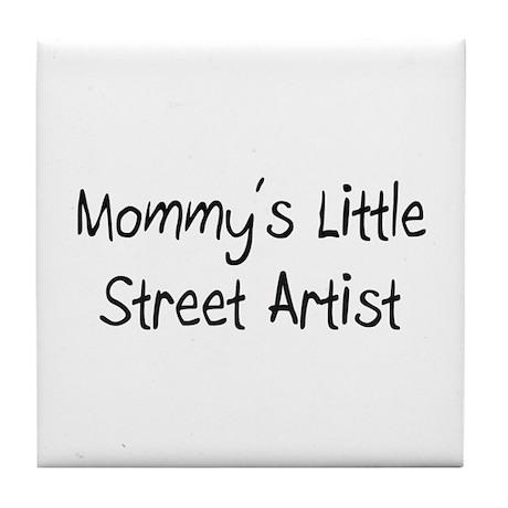 Mommy's Little Street Artist Tile Coaster