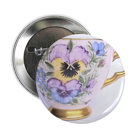 "Pansy Teaparty 2.25"" Button"