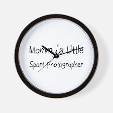 Mommy's Little Sport Photographer Wall Clock