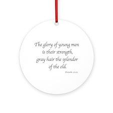 Gray Hair Splendor Ornament (Round)