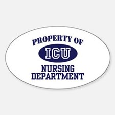 Property of ICU Nursing Department Oval Decal