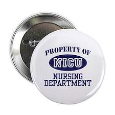"Property of NICU Nursing Department 2.25"" Button"