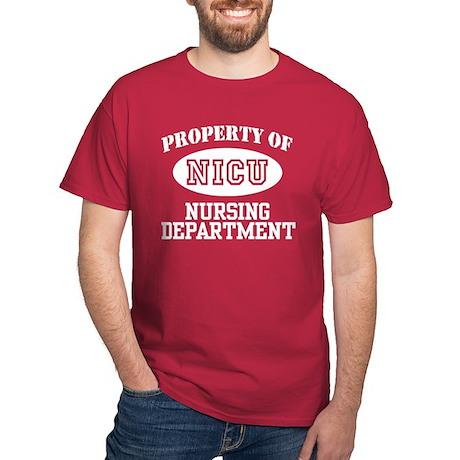 Property of NICU Nursing Department Dark T-Shirt