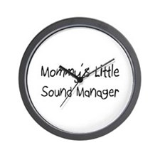 Mommy's Little Sound Manager Wall Clock