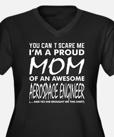 You Cant Scare Me Proud Mom Aero Plus Size T-Shirt