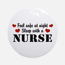 Feel Safe Sleep with a Nurse Ornament (Round)
