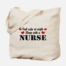 Feel Safe Sleep with a Nurse Tote Bag