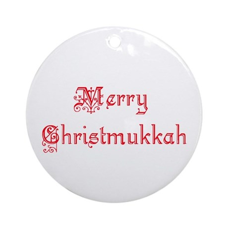 Christmukkah Ornament (Round)